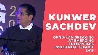 Kunwer Sachdev of Su-Kam speaking at
