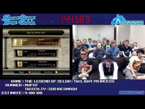 Legend of Zelda: Twilight Princess :: Speed Run (3:55:21) by Mofat #SGDQ 2013 [GCN]