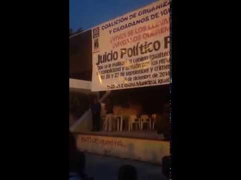 Juicio Ciudadano en Iguala Guerrero Dic. 15 del 2014
