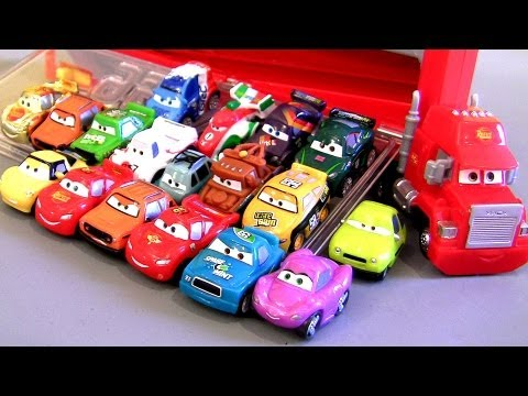 Mack Transporter Rolling Display Case Micro Drifters CARS 2 Storage Truck Display 18 cars Disney