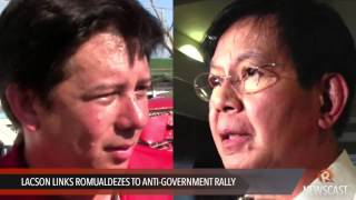 Lacson links Romualdezes to anti government rally
