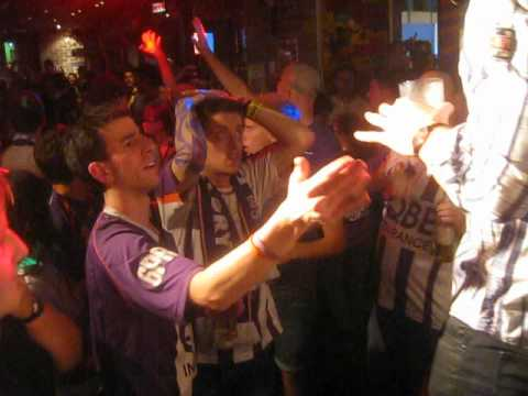 Legendary Perth Glory goalkeeper address Glory fans at TinBillys bar in Brisbane only hours after being robbed of the A-League championship by a cheating Bri...