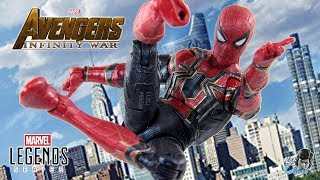 Avengers Infinity Wars Marvel Legends IRON SPIDER Action Figure Review - Thanos BAF Wave