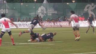 Rugby Japan vs Hongkong - Asian Games 2018 Jakarta - Palembang
