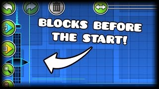 Geometry Dash- Place Blocks Before the Starting Line