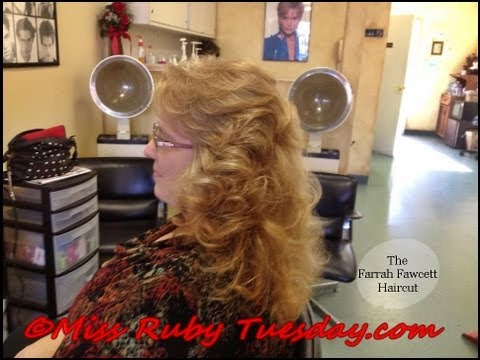 Miss Ruby Tuesday-  How To Give The Farrah Fawcett Haircut (Long Shag)