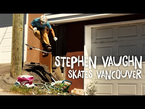 Stephen Vaughn skates Vancouver