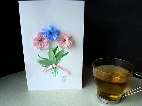 HOW TO MAKE A SIMPLE GREETING CARD - YouTube