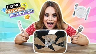 EATING MY DIAMOND PLAY BUTTON!!