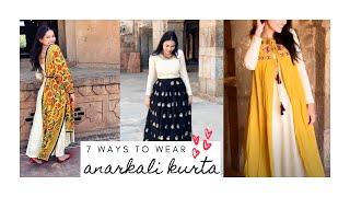7 Different Ways to Style an Anarkali   Ways to Wear a Kurta   How to Wear Anarkali Suit