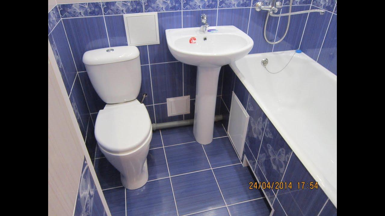 Бюджетный ремонт в ванной комнате совмещенной с туалетом своими руками