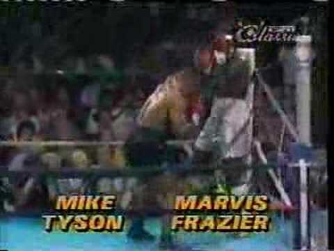 Mike Tyson knocks out Marvis Frazier