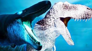 Família T-REX + Filhotes! Mosassauro Devorou Meus Irmãos!!   Beasts of Bermuda [#1]   (PT/BR)