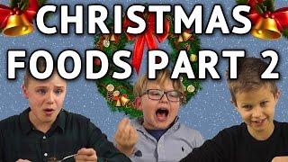 German Kids try international Christmas Foods - Part 2