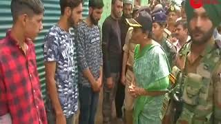 Defence Minister Nirmala Sitharaman meets the family of Sepoy Aurangzeb in J&K's Poonch