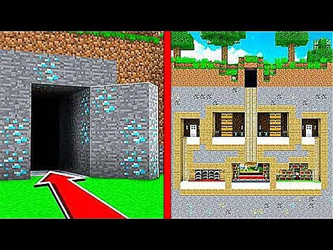 НУБ НАШЕЛ СЕКРЕТНЫЙ ПОДЗЕМНЫЙ ДОМ В Майнкрафте! Minecraft Мультик Майнкрафт троллинг Нуб и Про
