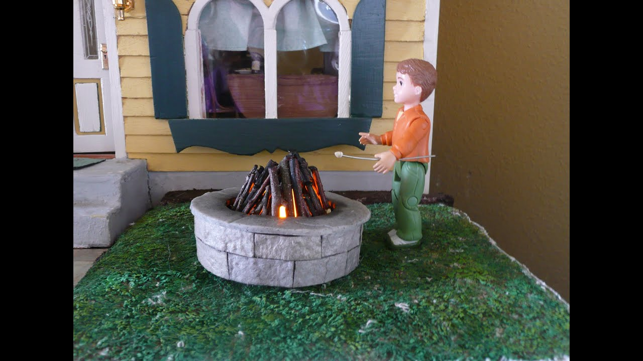 Dollhouse Miniature Fire Pit