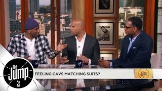 Iman Shumpert and Richard Jefferson joke about LeBron buying Cavs matching suits | The Jump | ESPN