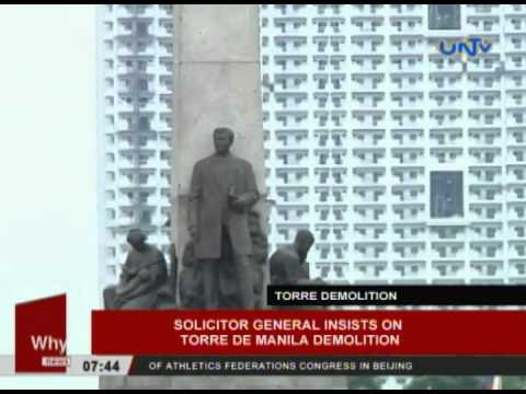 Solicitor General insists Torre De Manila demolition