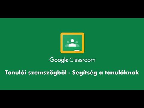 Google Classroom használata - Tanulóknak