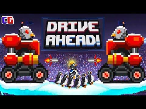 Drive Ahead БИТВА С ПИНГВИНАМИ КИБОРГАМИ Безумные задания в Мультяшной игре Драйв Ахед от Cool GAMES