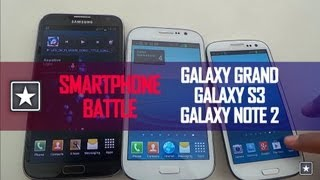 ★ Samsung Galaxy Grand vs Galaxy S3 vs Galaxy Note 2 | Comparison Review