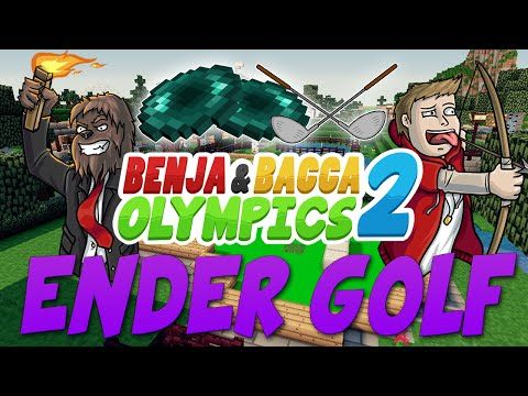 Minecraft Benja & Bacca Olympics 2: ENDER GAMES GOLF - Game 5! (Death Cup Challenge)
