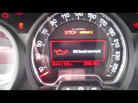Kasowanie Inspekcji Citroen C5 (RD) 08- Oil Service Indicator Light Reset Citroen C5 (RD) 08-