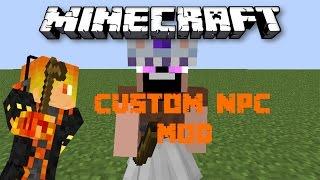 Minecraft Mod Showcase: Custom NPC Mod - Notch mặc váy