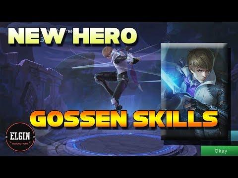 GOSSEN NEW HERO SKILLS - NEW ASSASSIN HERO - GOSSEN MOBILE LEGENDS