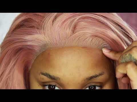 HOW TO LACE FRONT WIGS FOR BEGINNERS | PASTEL PINK WIG