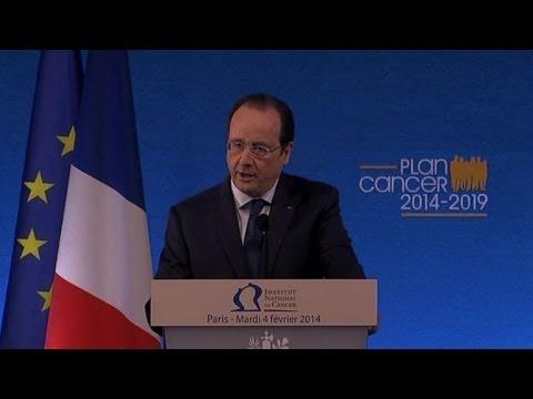 Hollande dévoile le 3e plan de lutte contre le cancer
