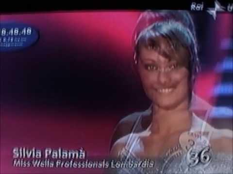 Silvia Palamà,Miss Wella Professionals Lombardia,at Miss Italia 2009.Bikini Catwalks