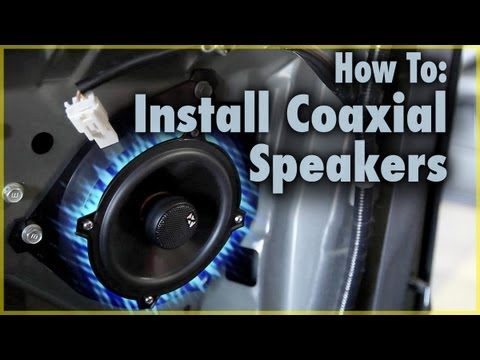 How To Install Factory Coaxial Car Speaker In A Scion Tc