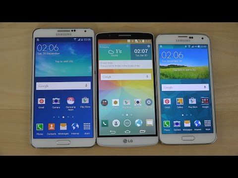 Android 5.0 Lollipop: Samsung Galaxy Note 3 vs. Samsung Galaxy S5 vs. LG G3 - Which Is Faster? (4K)