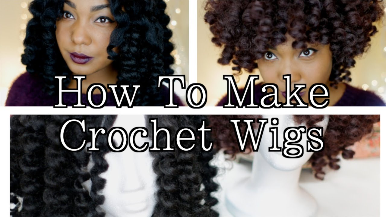 How To Make Crochet Wigs: Natural Hair Protective Style - YouTube