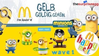 2015 MINIONS Movie McDonalds Happy Meal Kids Germany Toys wave 1