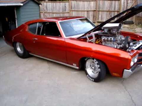 Blown Pro Street 70 Chevelle Burn Out Youtube