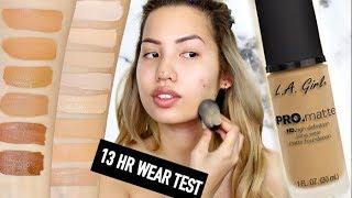 BRAND NEW | L.A GIRL PRO MATTE LONGWEAR FOUNDATION | 13 HOUR WEAR TEST ON OILY SKIN