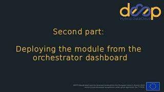 Deploying an application from the command line and from the orchestrator dashboard
