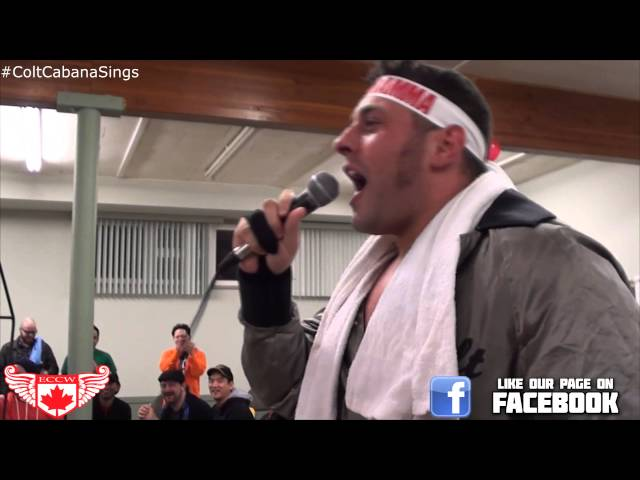 ECCW - Colt Cabana Sings his Entrance Theme Music