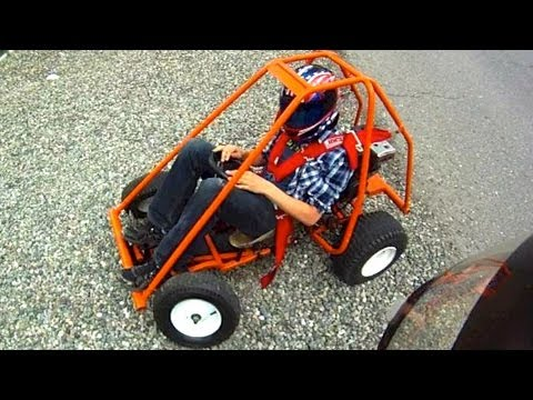 Homemade Go-Kart And Mini-Bike (GoPro & Rollover) - YouTube