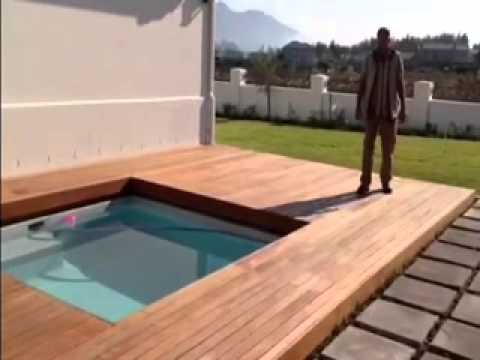 Wooden sliding deck youtube - How to build a swimming pool out of wood ...