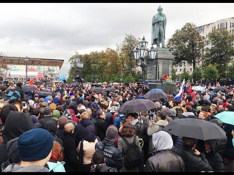 Москва #ЗаНавального 7 октября 2017