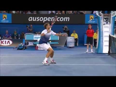 Beautiful lob: Novak Djokovic - Australian Open 2015