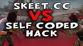 CS:GO Skeet.cc VS Self Coded Hacks In Comp   Legit Comp Hacking