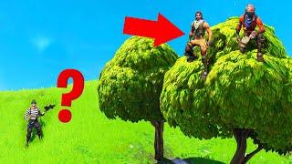 Playing HIDE And SEEK In TREES! (Fortnite Hide And Seek)