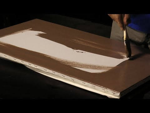 how to stain a canvas