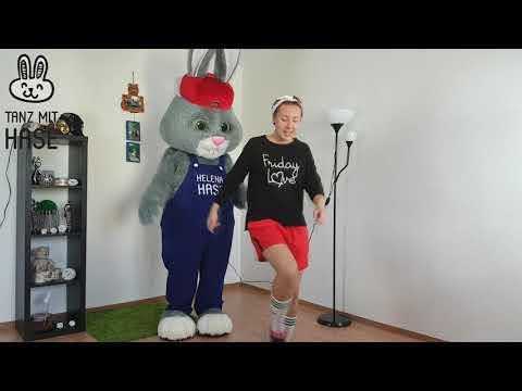 Wie lerne ich zu tanzen. Tanz mit Hase. Online Tanzschule. Teil 1