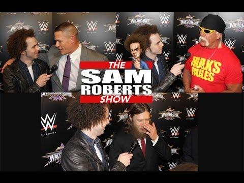 Daniel Bryan, John Cena, & Hulk Hogan w/Sam Roberts @ WWE Wrestlemania 30 Press Conference